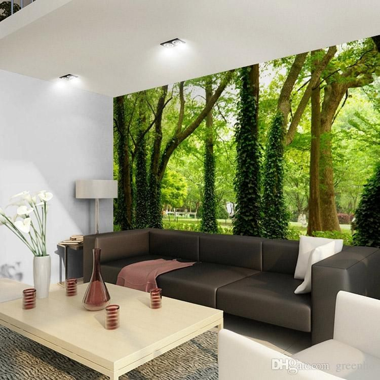 Beautiful Woods Wallpaper Custom Wall Mural Nature Landscape Photo ...