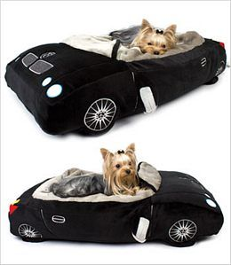 DMW Dog Bed - $189.99 - If I get the little black BMW convertible we're looking for, then THIS will have to happen for the furkids! Love it!