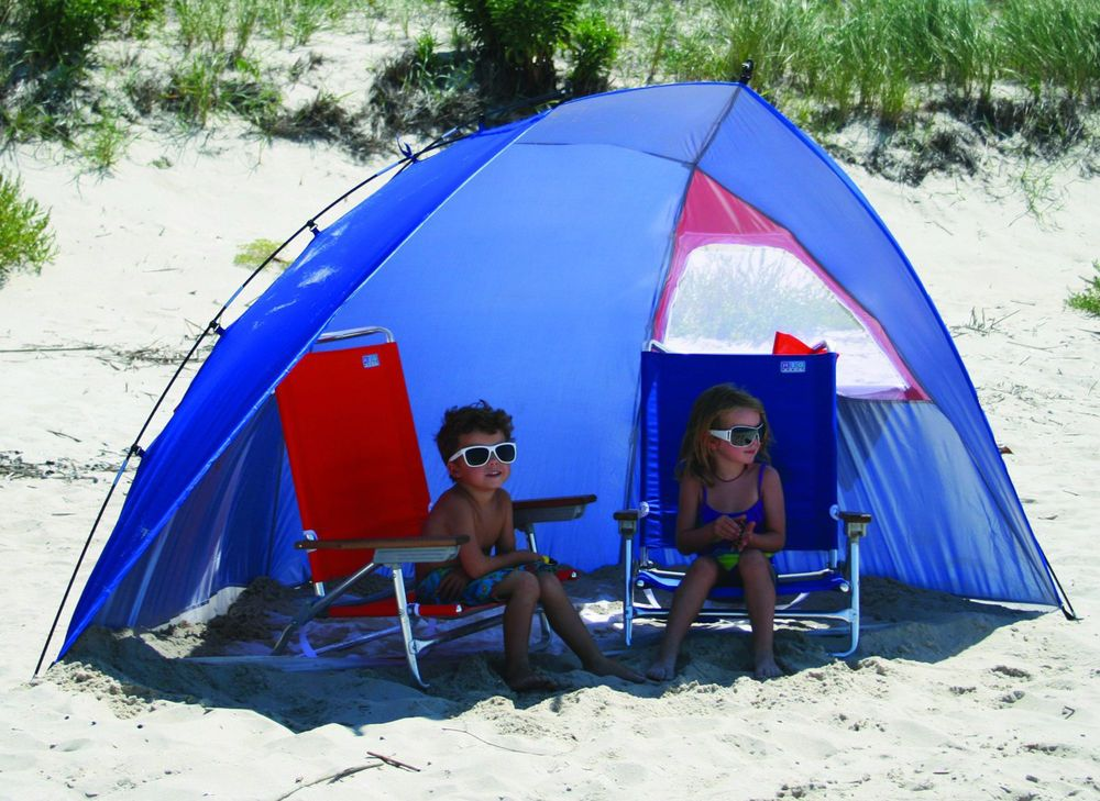 Portable Sun Shelter Beach Shade Tent Outdoor Canopy Fishing Camping Picnic Blue Beach Shade Tent Beach Shade Canopy Outdoor