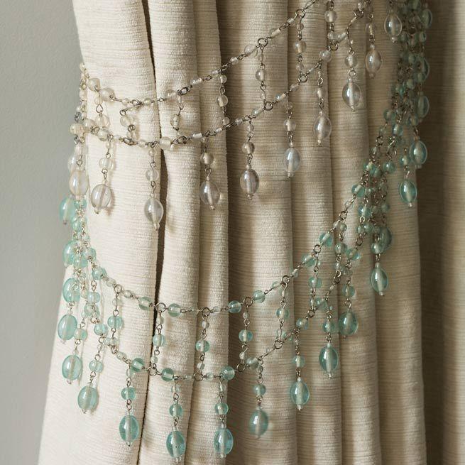 Sujetador de cortinas de cuentas de cristal sujetadores - Telas marroquies ...