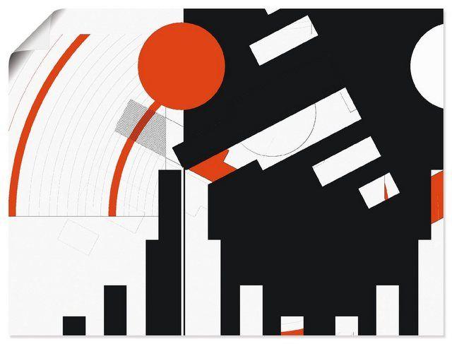 Photo of Artland Art Print Poster »C. Bässler: Black and white meet red version «buy online | OTTO