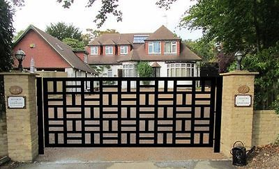 Contemporary Driveway Gate On Sale Metal Art Garden Wrought Iron Designer 10 Ft Home Garden Yard Garden Steel Gate Design Gate Design Iron Garden Gates