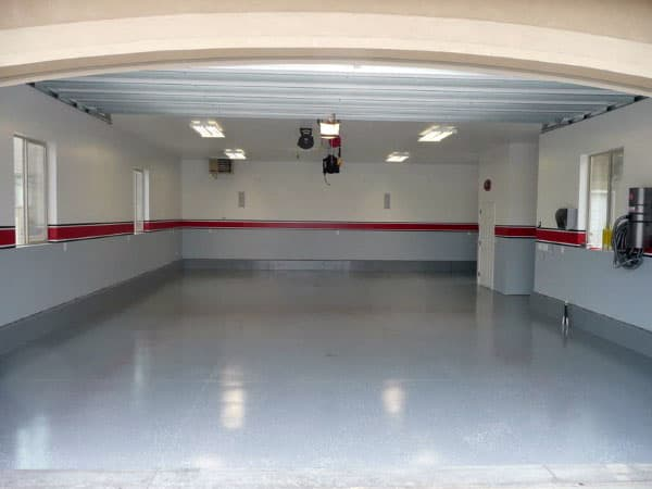 50 Garage Paint Ideas For Men Masculine Wall Colors And Themes Garage Interior Garage Paint Garage Walls