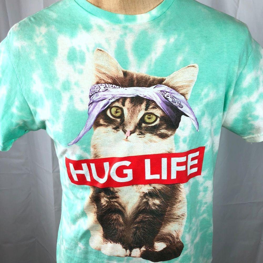 eda1bf29 Kitten Cat Hug Life Thug Tie Dye ODM M T-Shirt Medium Mens Cute Tupac  Gangsta #ODM #GraphicTee #cat #kitten #tiedye #hug #huglife #thuglife  #ebayROCteam # ...