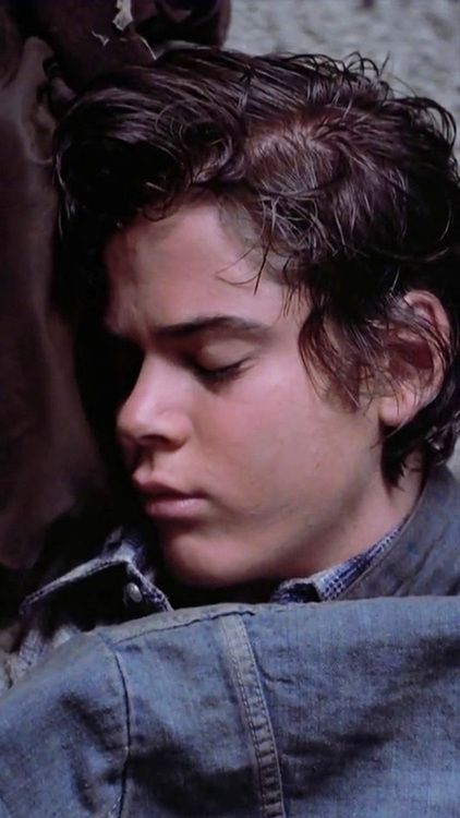 I thought this was Harry Styles for a second. What's Harry Styles doing here? Oh yeah, Ponyboy! Haha!