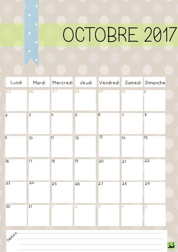 Calendrier 2017 gratuit imprimer nouvelle version calendrier 2017 mon calendrier et - Calendrier lune octobre 2017 ...