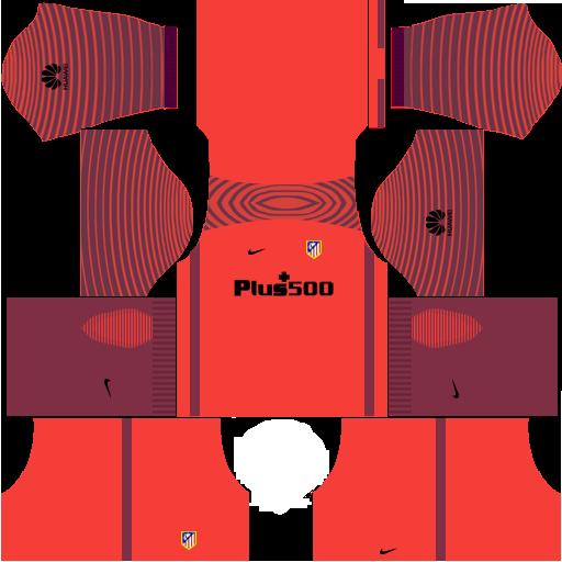 cheap for discount 201b1 eb50c Atletico Madrid Kits & Logo [2018-2019] Dream League Soccer ...