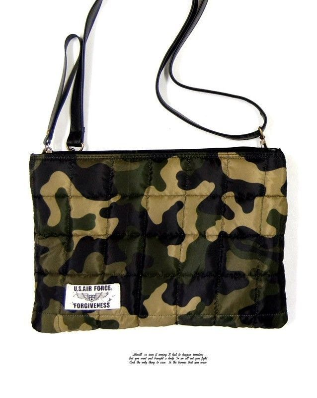 Bloodycat Unisex Square Stitch Polyester Black Military Pouch Cross Bag