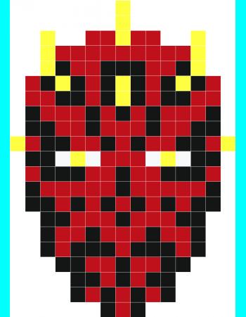Le Cornu Stickers Muraux Star Wars Crochet Pixel Art