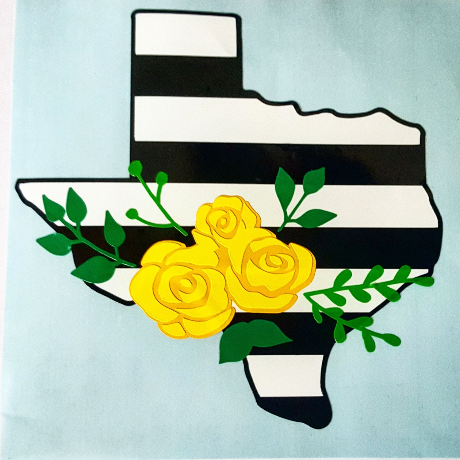 Texas Decal Yellow Rose of Texas Flower Swag Texas Decal by ...