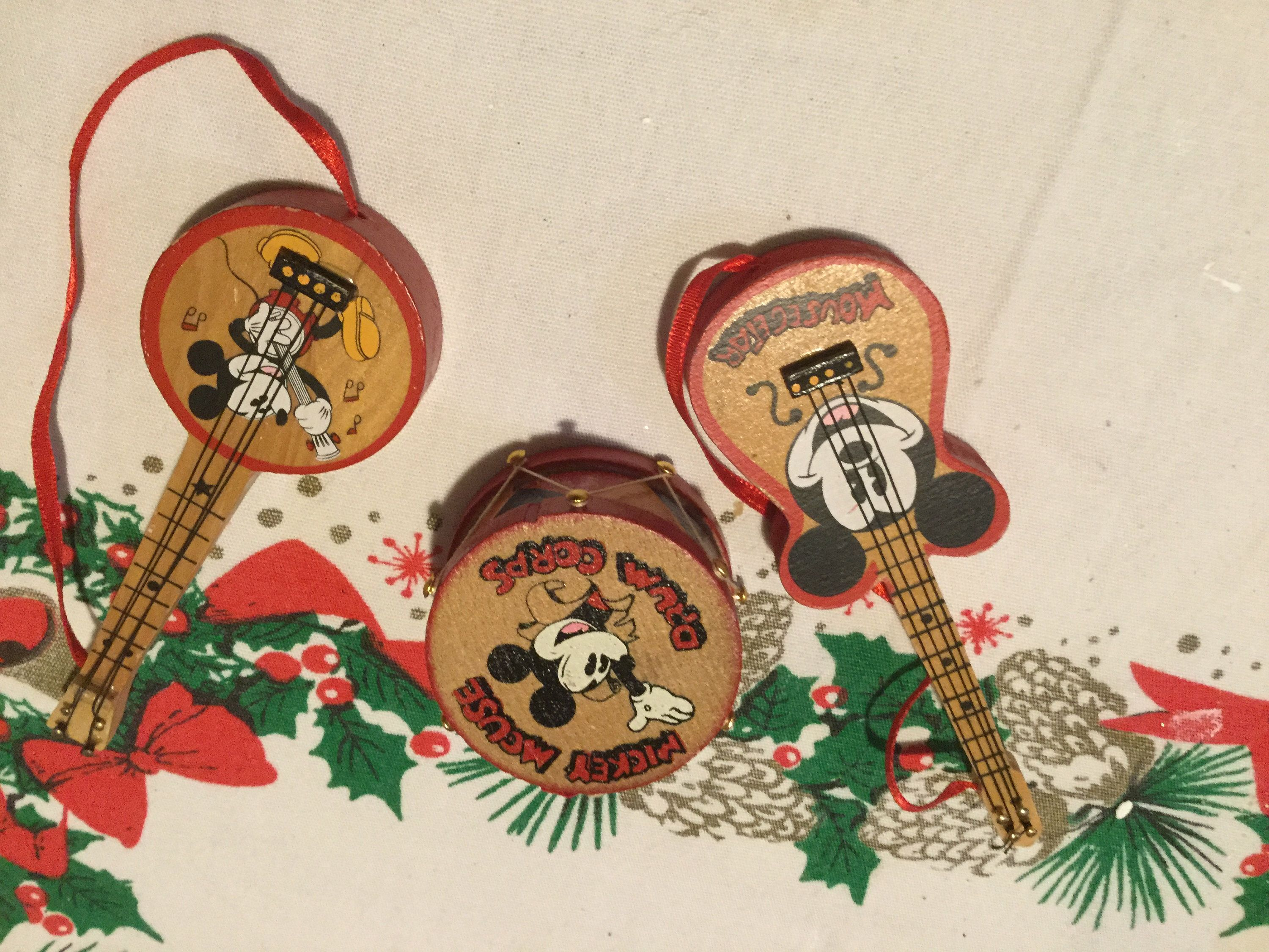 Vintage Disney Wooden Musical Ornaments By Kurt Adler Etsy Vintage Disney Wooden Ornaments Etsy