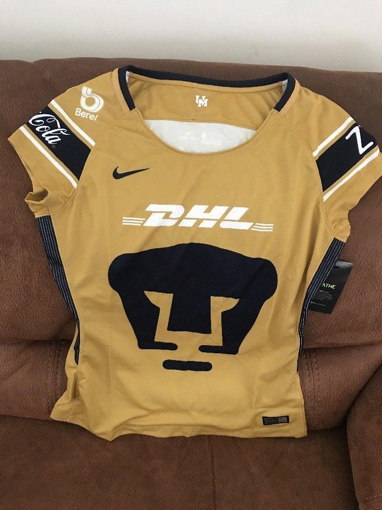 ba494ef07c9 Nike Pumas Unam Mexico 2018 Soccer Jersey NWT Size Medium Womens   eBay