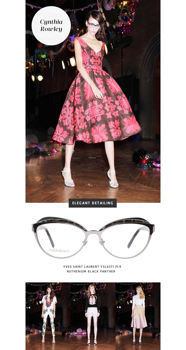 26f1858ef7d0 Top 6 Glasses Trends  New York Fashion Week