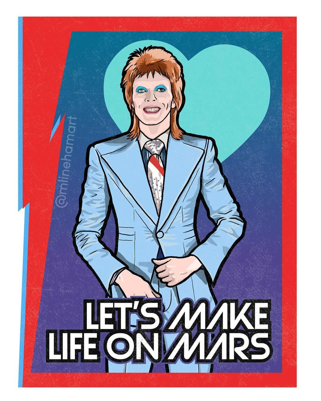 David Bowie Valentines 1 9 By Matthew Lineham Are Available At Mlinehamart Com David Bowie Bowie David Bowie Art