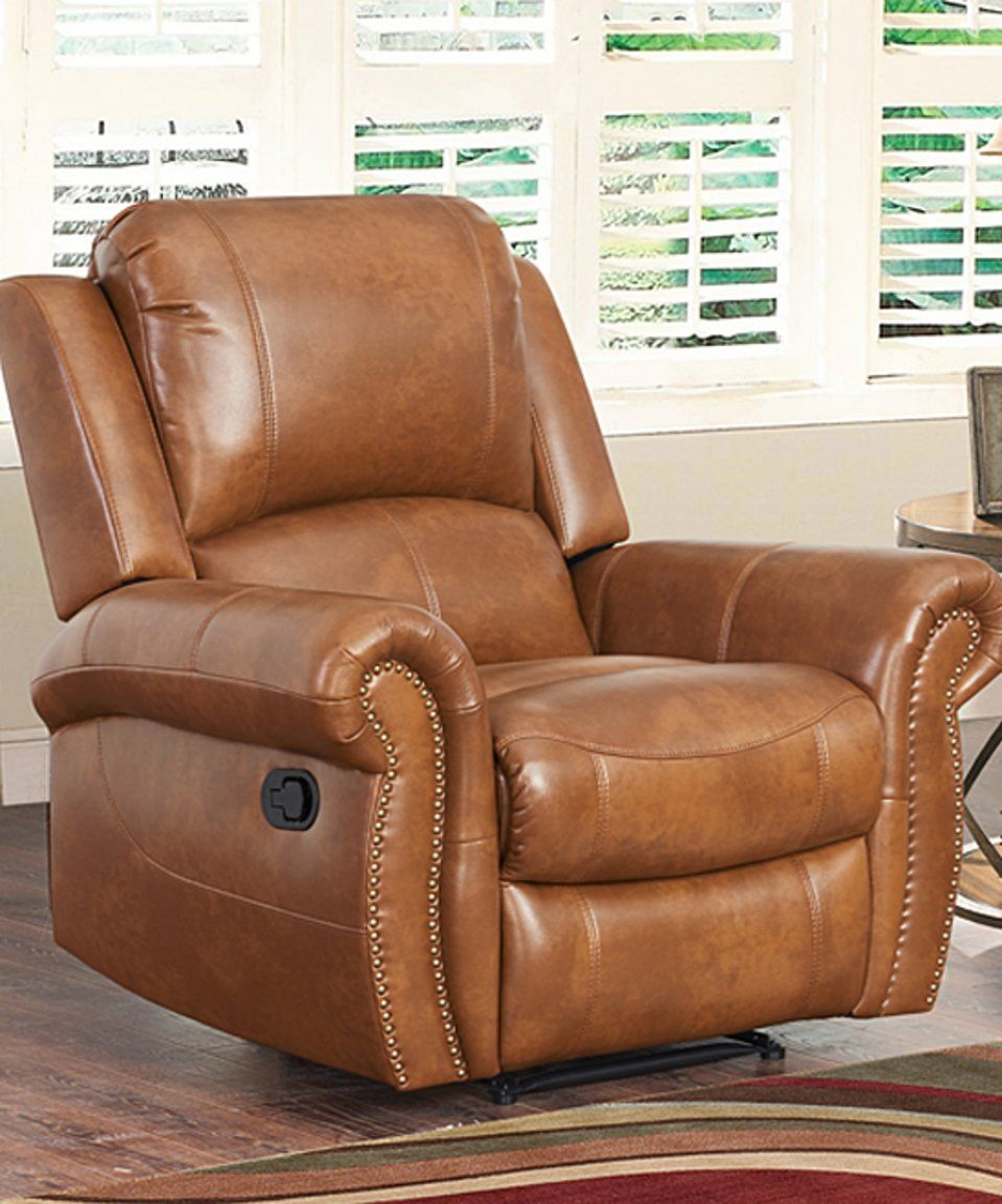 Super Take A Look At This Cognac Theo Leather Recliner Today Short Links Chair Design For Home Short Linksinfo