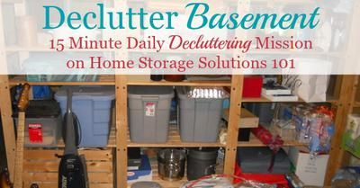 How to declutter your basement without feeling overwhelmed, and without making a huge mess during the process. Also includes inspirational before and after photos from readers who've already done this mission.