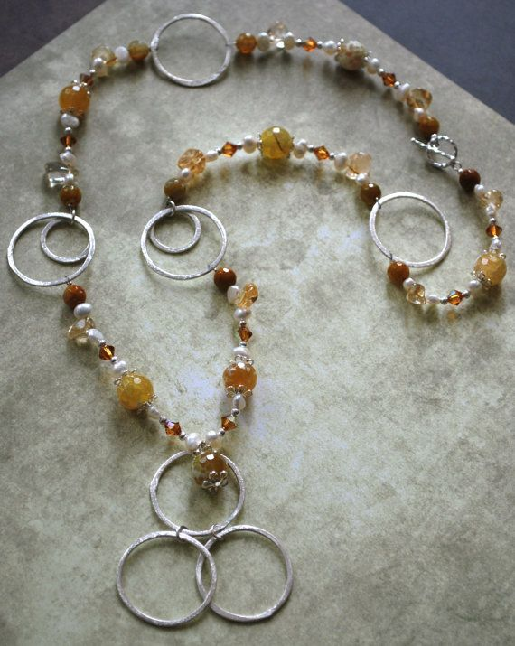Long Citrine Necklace by fhosmer on Etsy,  www.fhosmer@etsy.com