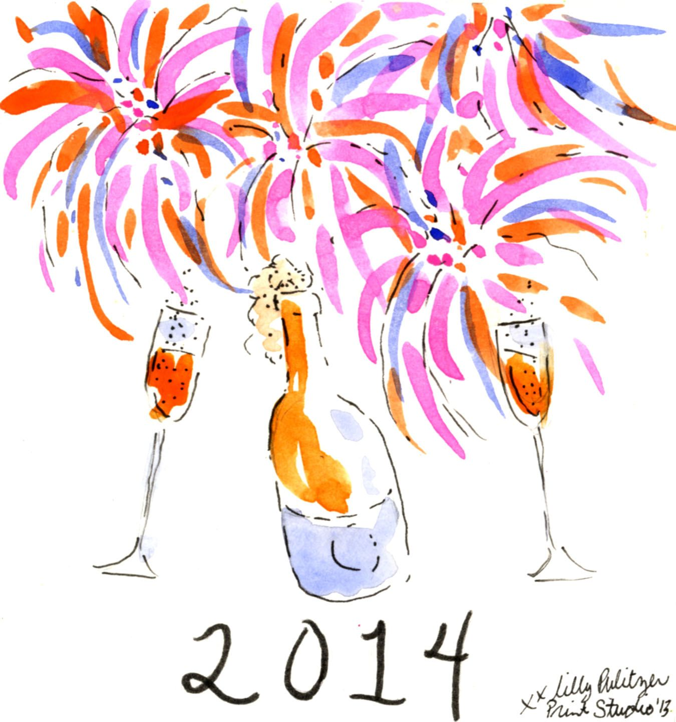 Cheers to 2014! lilly5x5 Lilly 5x5 Lilly pulitzer