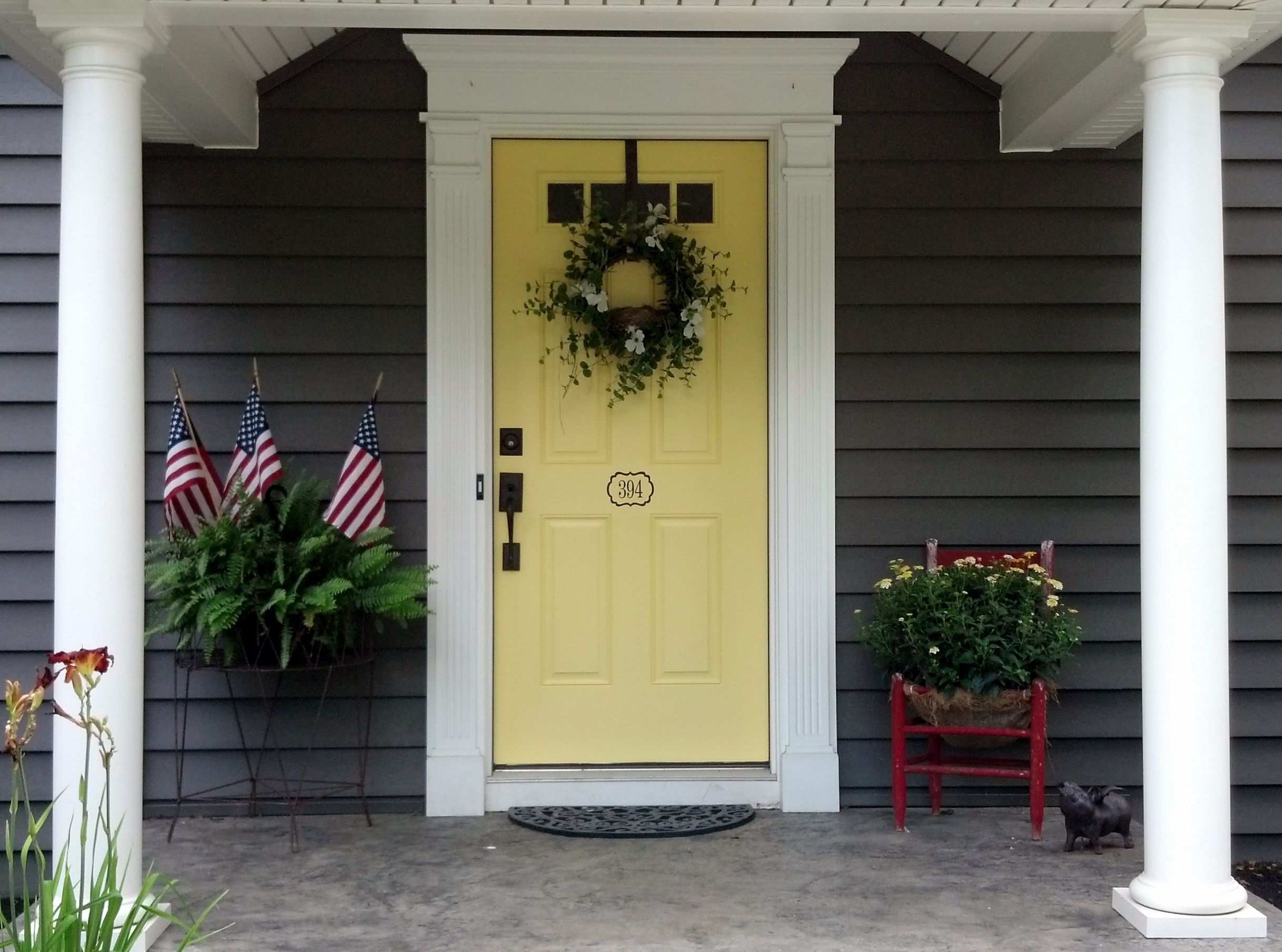 Front door molding the garden exterior pinterest for Outer door design