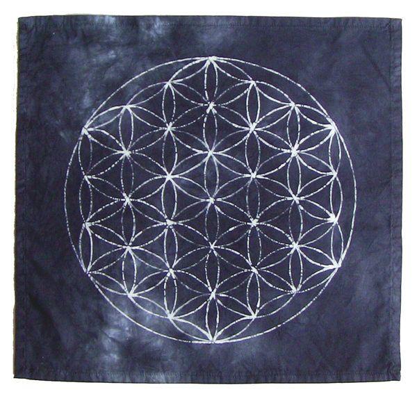 flower of life crystal grid cloth black crystals