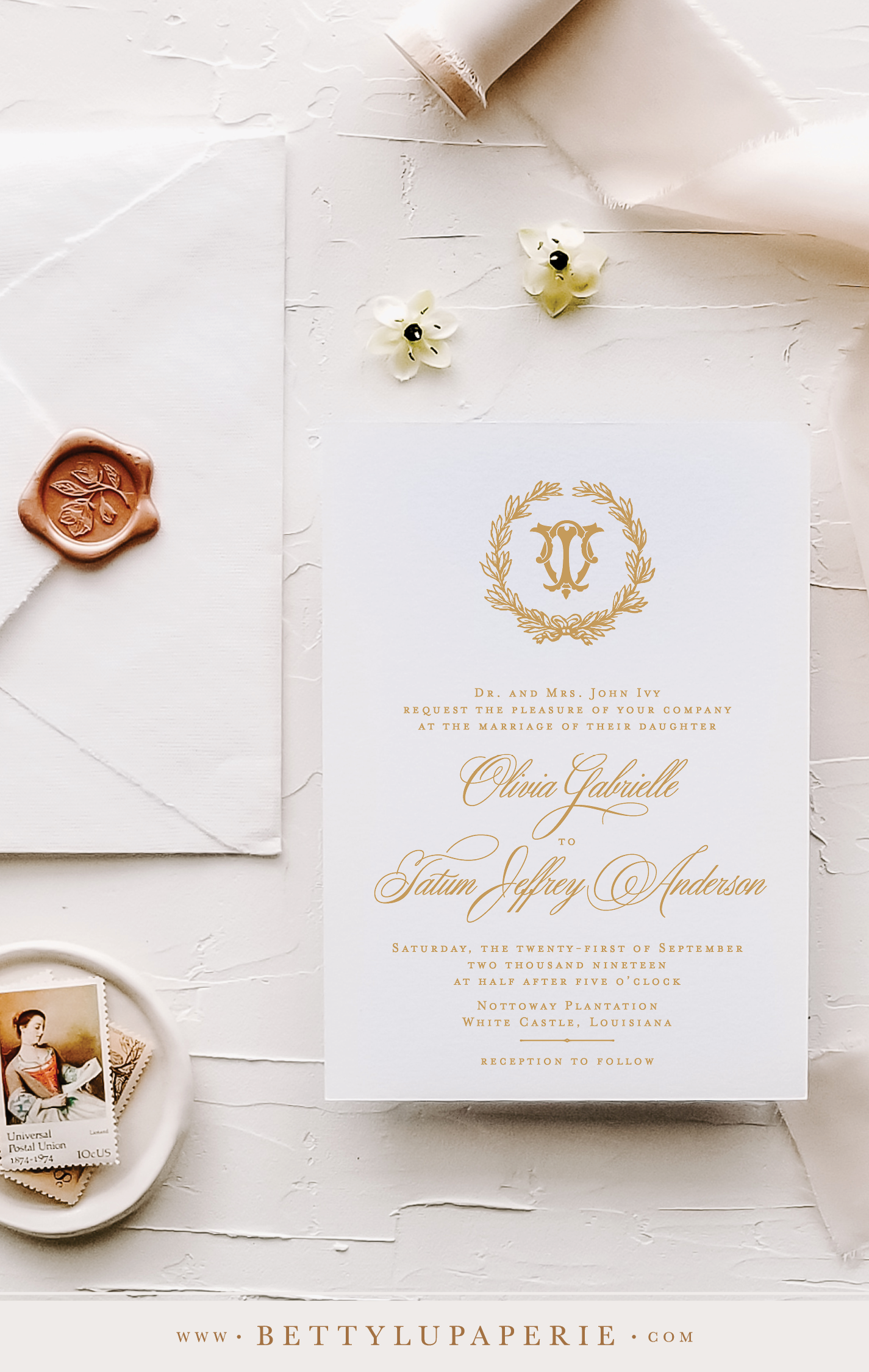 Elegant Wedding Invitations Printed