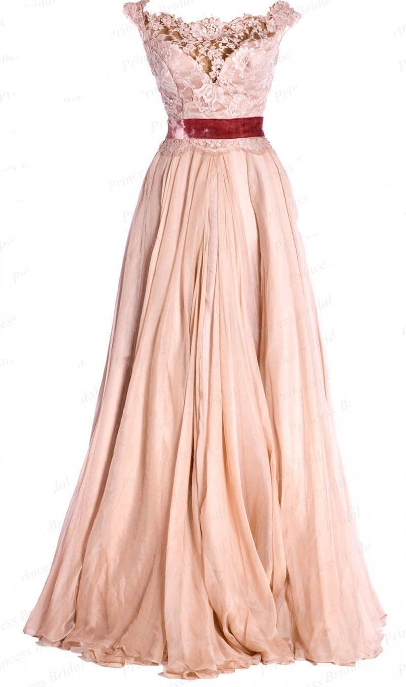 Vintage Boat Neck Sleeveless Coral Chiffon Prom Dresses Vintage Long Prom Gowns Vintage Dresses [ 1352 x 800 Pixel ]