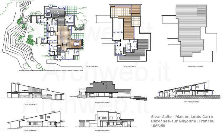 2d maison louis carr bazoches sur guyonne france 1956 for Alvar aalto maison