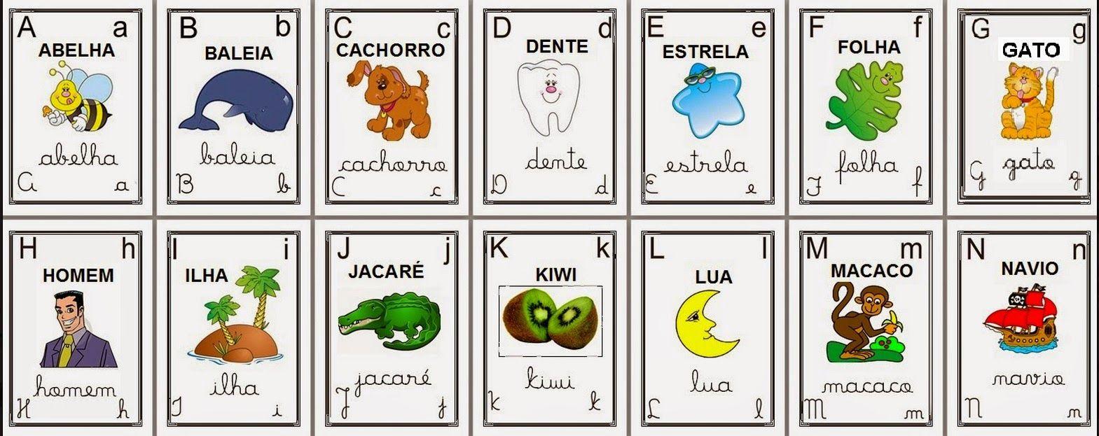 Resultado De Imagem Para Alfabeto Ilustrado Colorido Para Imprimir