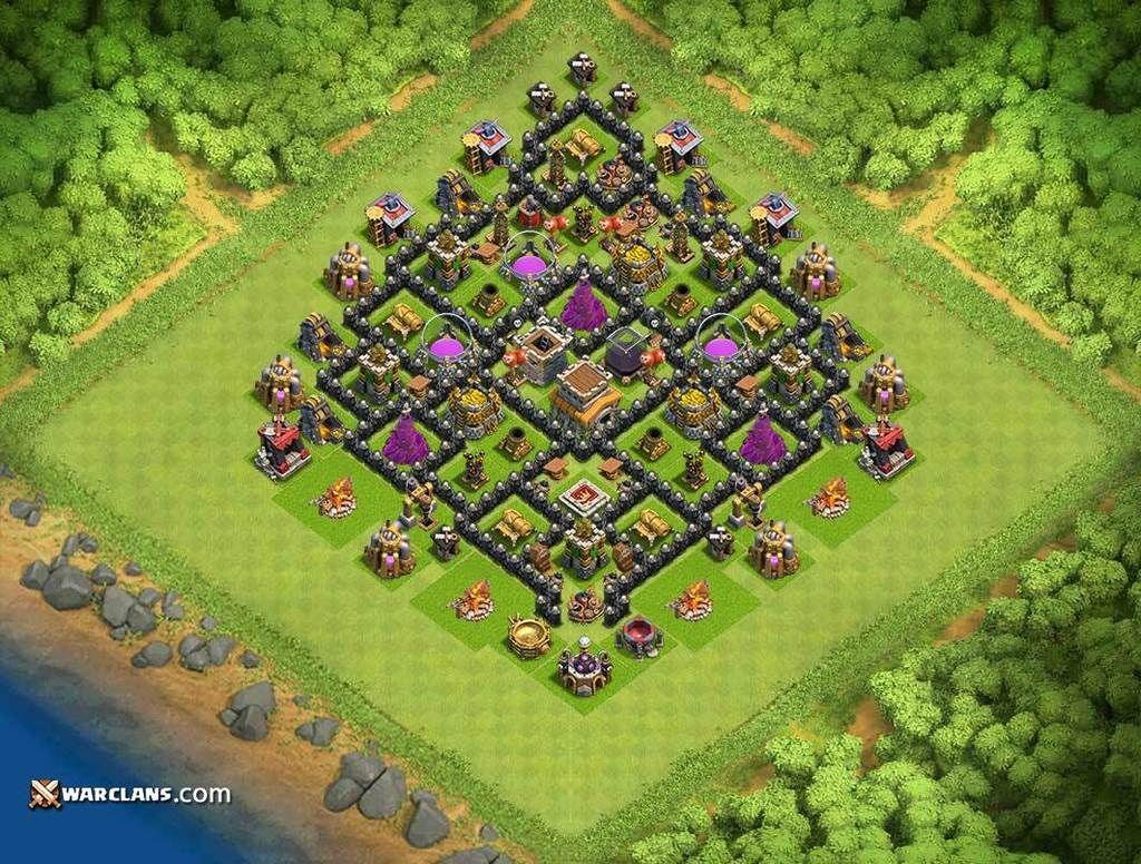 Defense Base TH8 - TH8 Clash of Clans Defensive Base ...