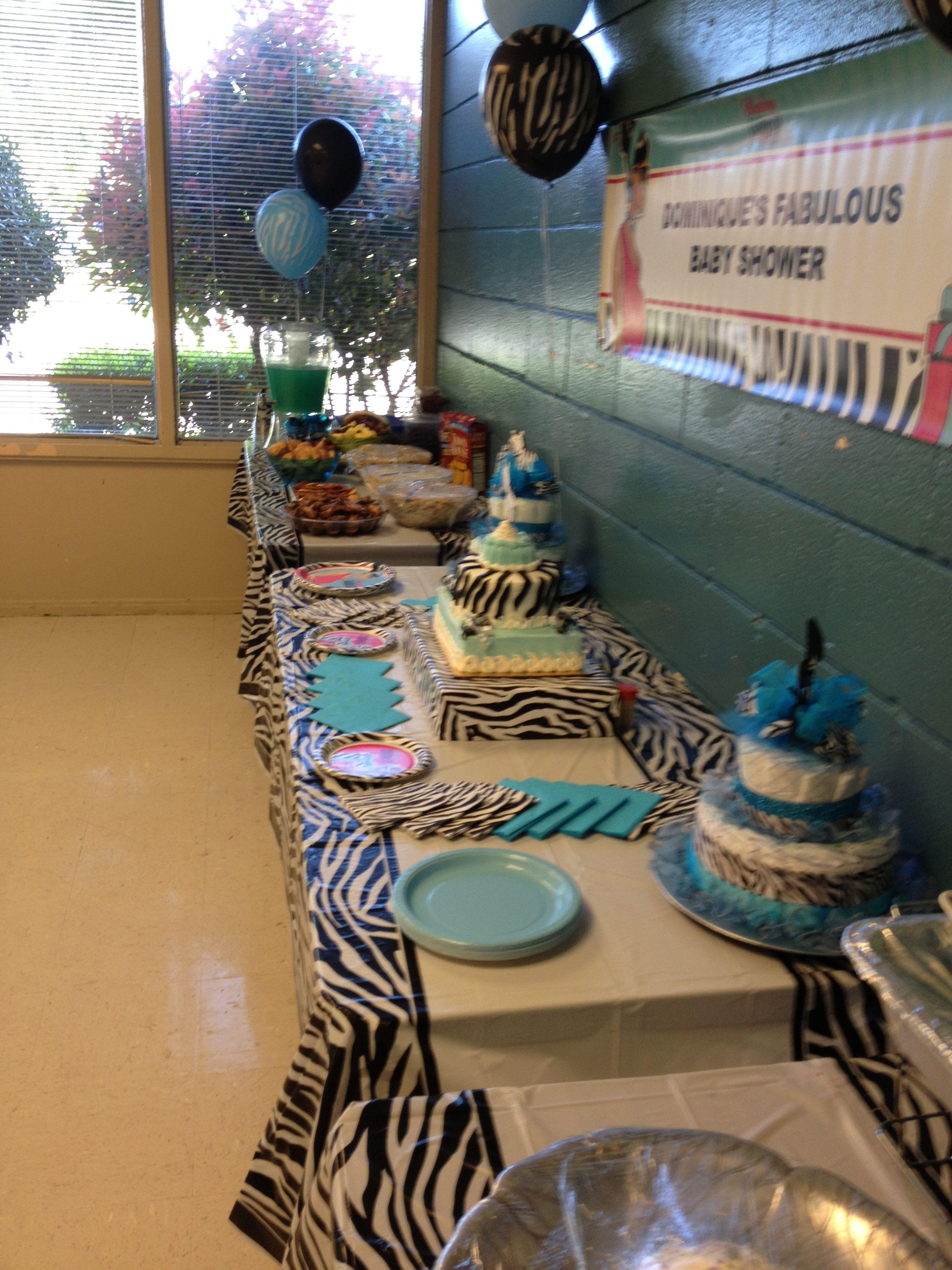 Zebra Food Tables