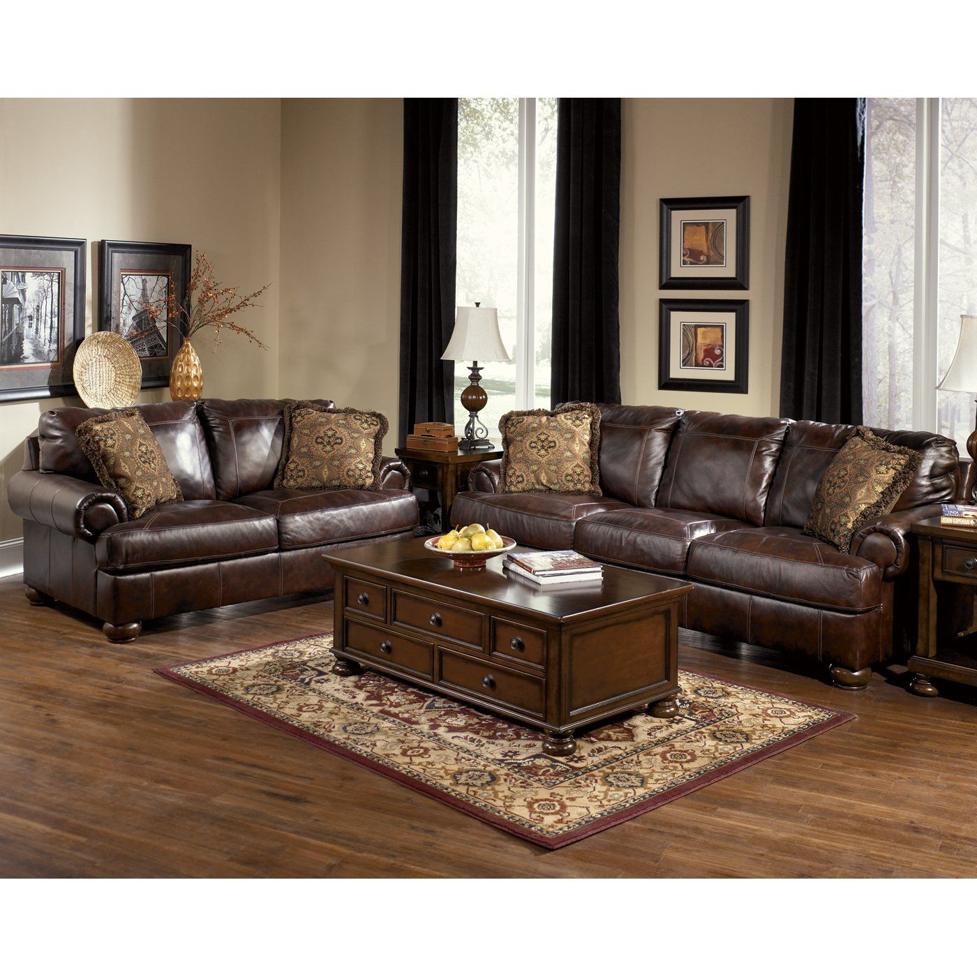 Signature Design By Ashley 4200038 35 Axiom Sofa Set Home