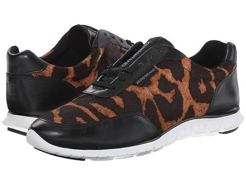 Womens Shoes Cole Haan Zerogrand Sneaker Ocelot Haircalf/Black