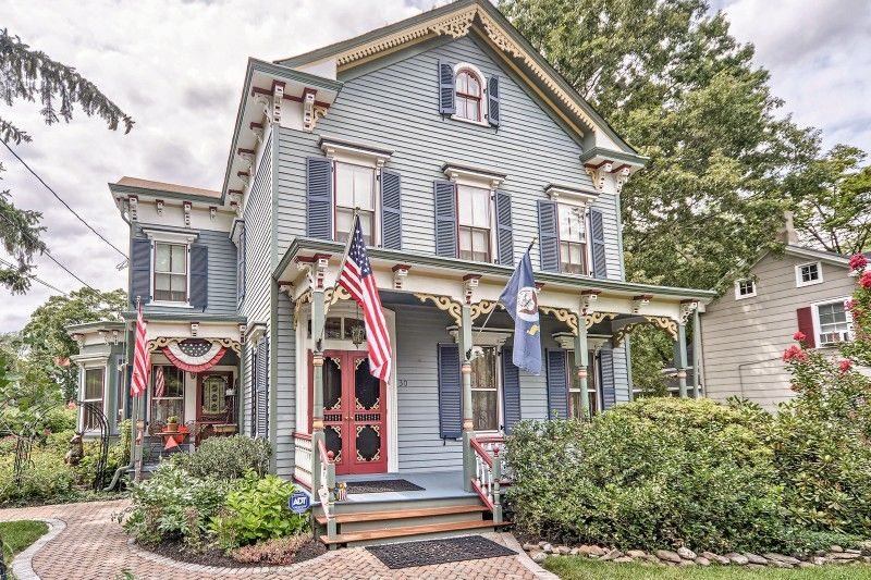 Oldhouses Com 1869 Victorian Elegantly Restored Painted Lady In Somerset New Jersey Historic Homes For Sale Real Estate Nj Historic Homes