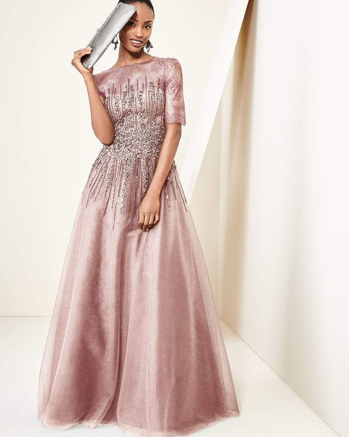 Rickie Freeman for Teri Jon Beaded Lace & Tulle Gown | Dresses ...