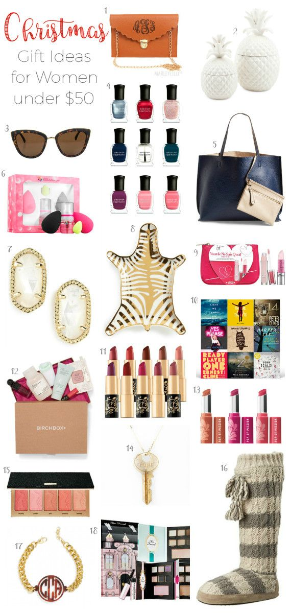 The BEST Christmas gift ideas for women under $50! - Christmas Gift Ideas For Women Under $50 Best Beauty & Style Tips