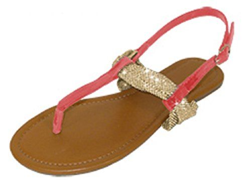 a69135946 Womens T Strap Roman Gladiator Sandals Flats W Bow 6 Colors (6373 7