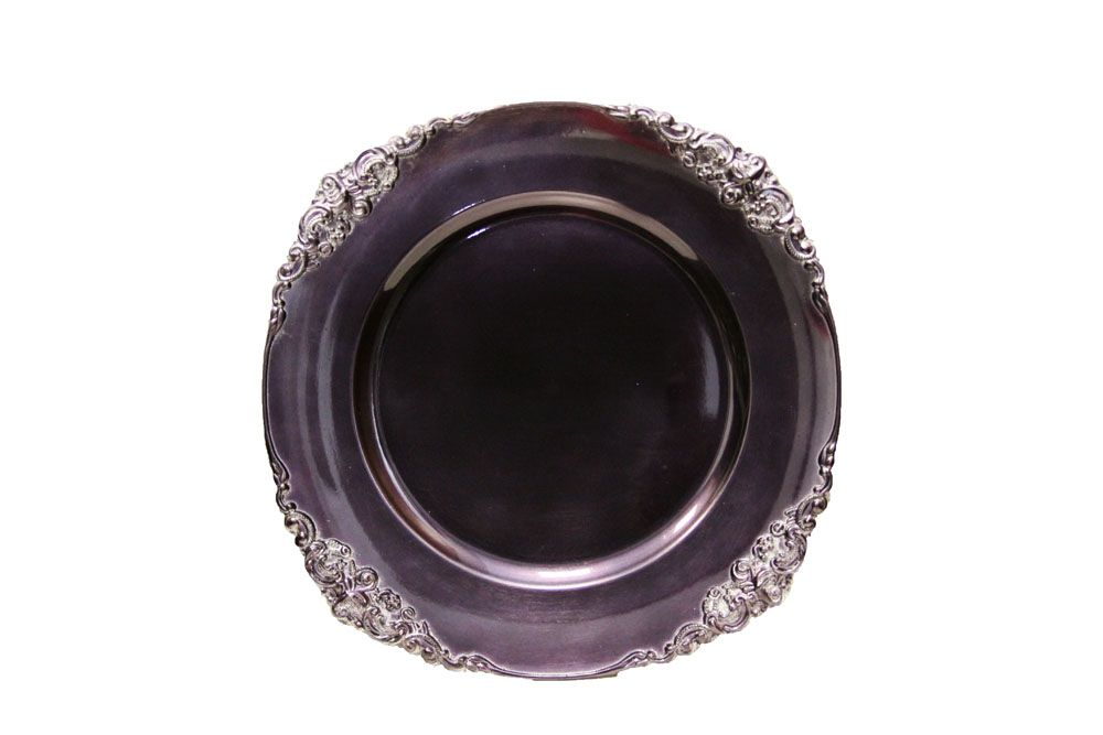 Vintage Round Charger Plate Plum As Low As 2 79 Www Cvlinens