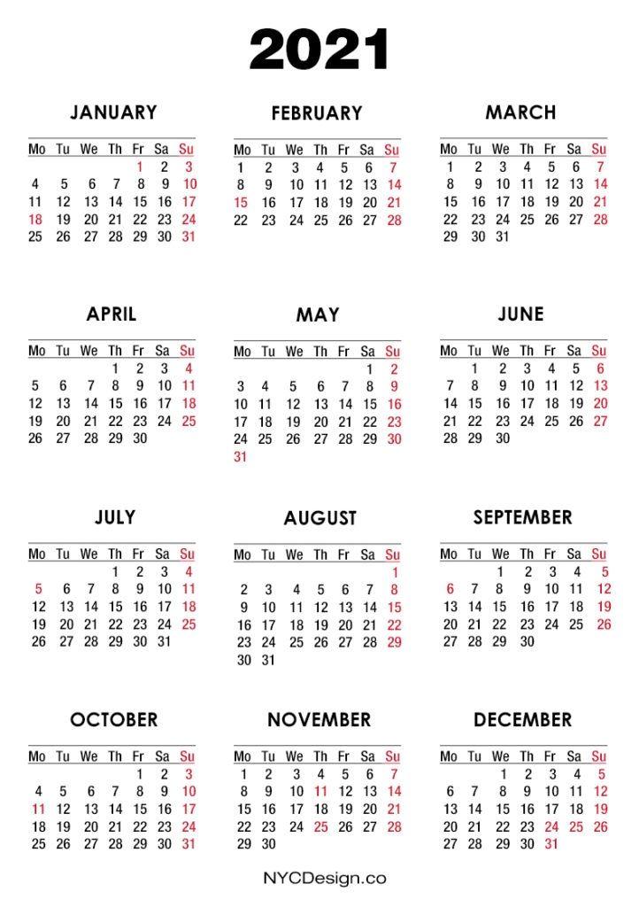 Calendar 2021 Usa Holidays In 2020 Free Printable Calendar Calendar Template Calendar Printables