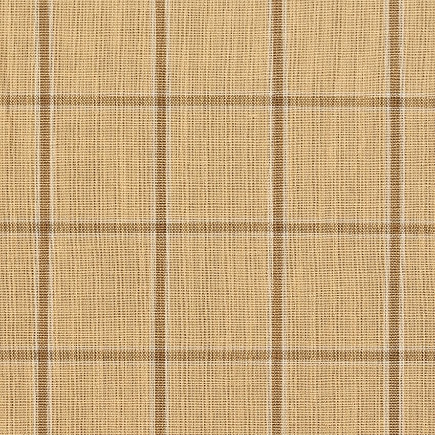 Wheat Windowpane Beige And Gold Plaid Tweed Drapery And Upholstery