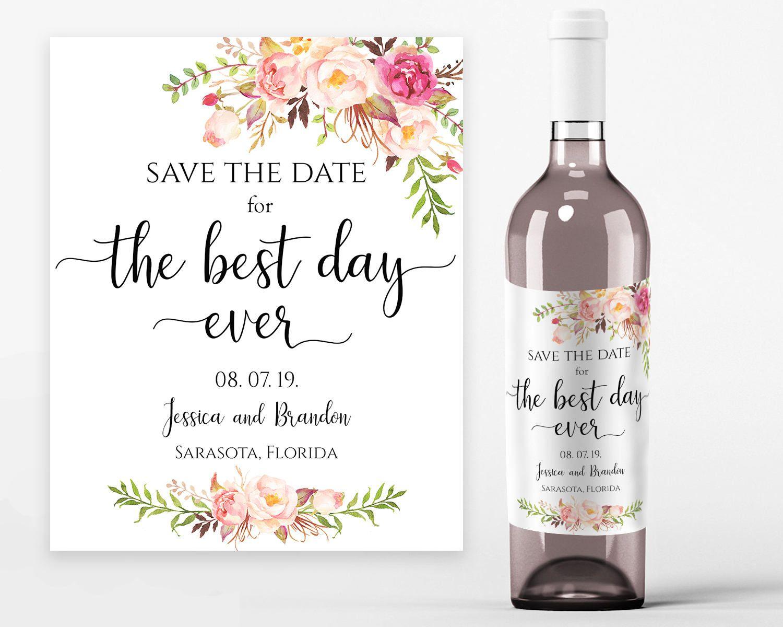 Wedding Wine Labels Wedding Wine Printable The Best Day Ever Wine Labels Printable Wine B Printable Wine Bottle Labels Wedding Wine Labels Wine Label Printable