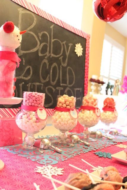 Winter Wonderland Snowflake Baby Shower Party Ideas