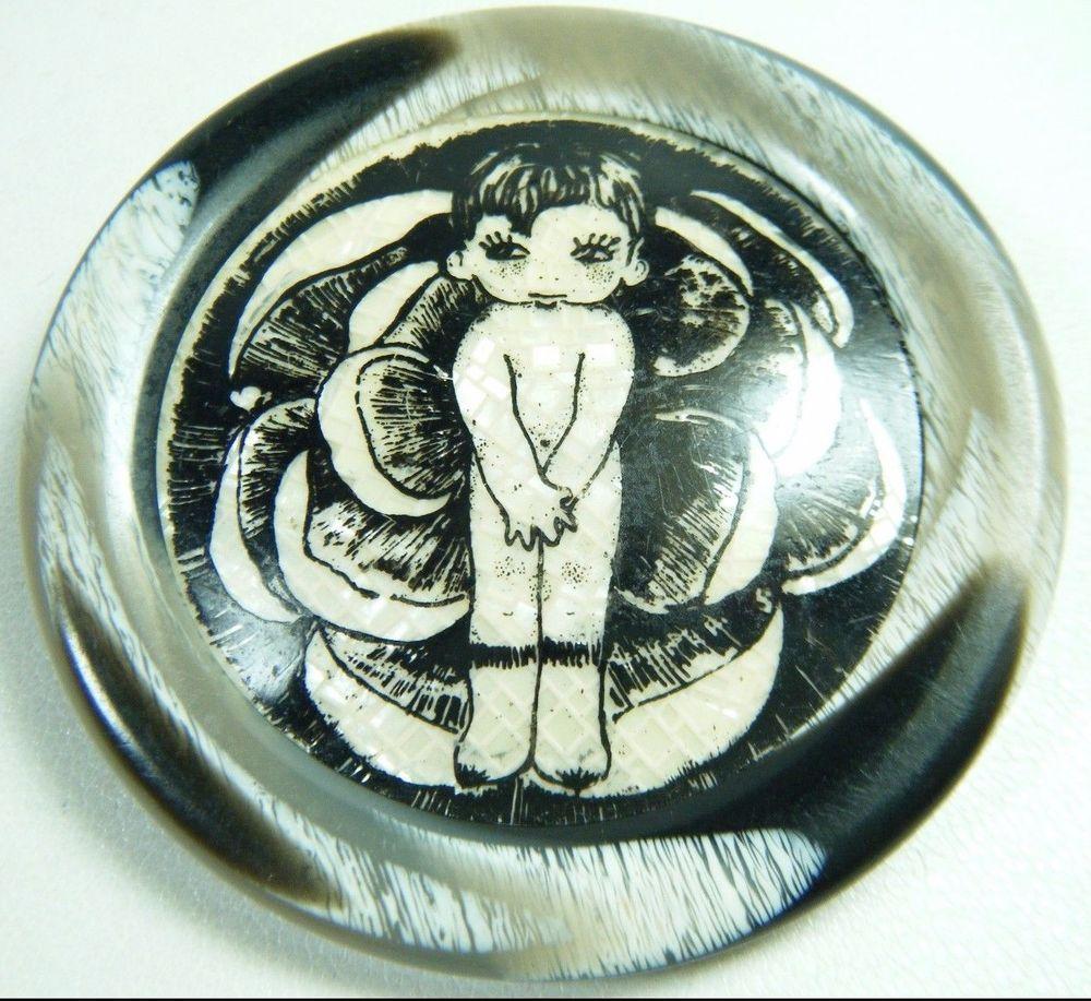 1960's Lea Stein Little Cute Bashful Nudie Seri Brooch Pin French Plastic Paris | eBay