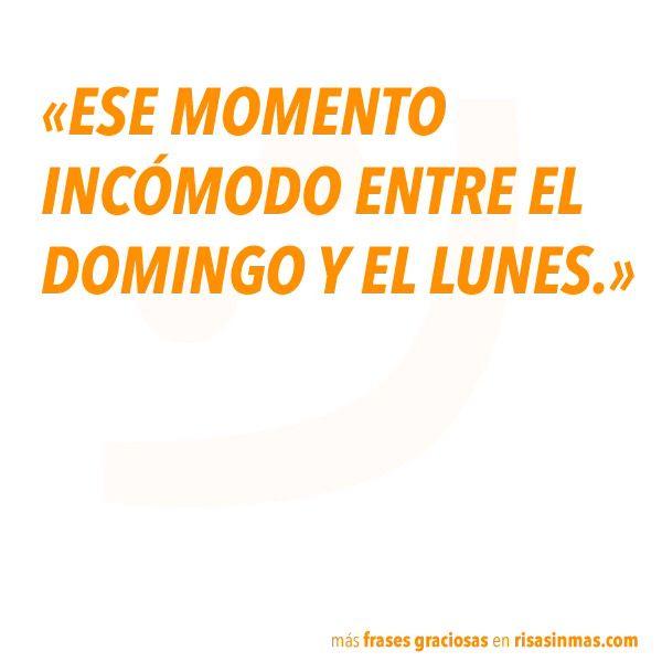 Entre Domingo Y Lunes Humor D Frases Graciosas Frases