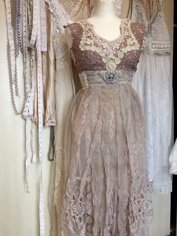 A personal favorite from my Etsy shop https://www.etsy.com/dk-en/listing/210141603/beach-wedding-dress-victorian-style-raw