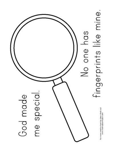 VBS 2014 We could use this template for a magnifying glass