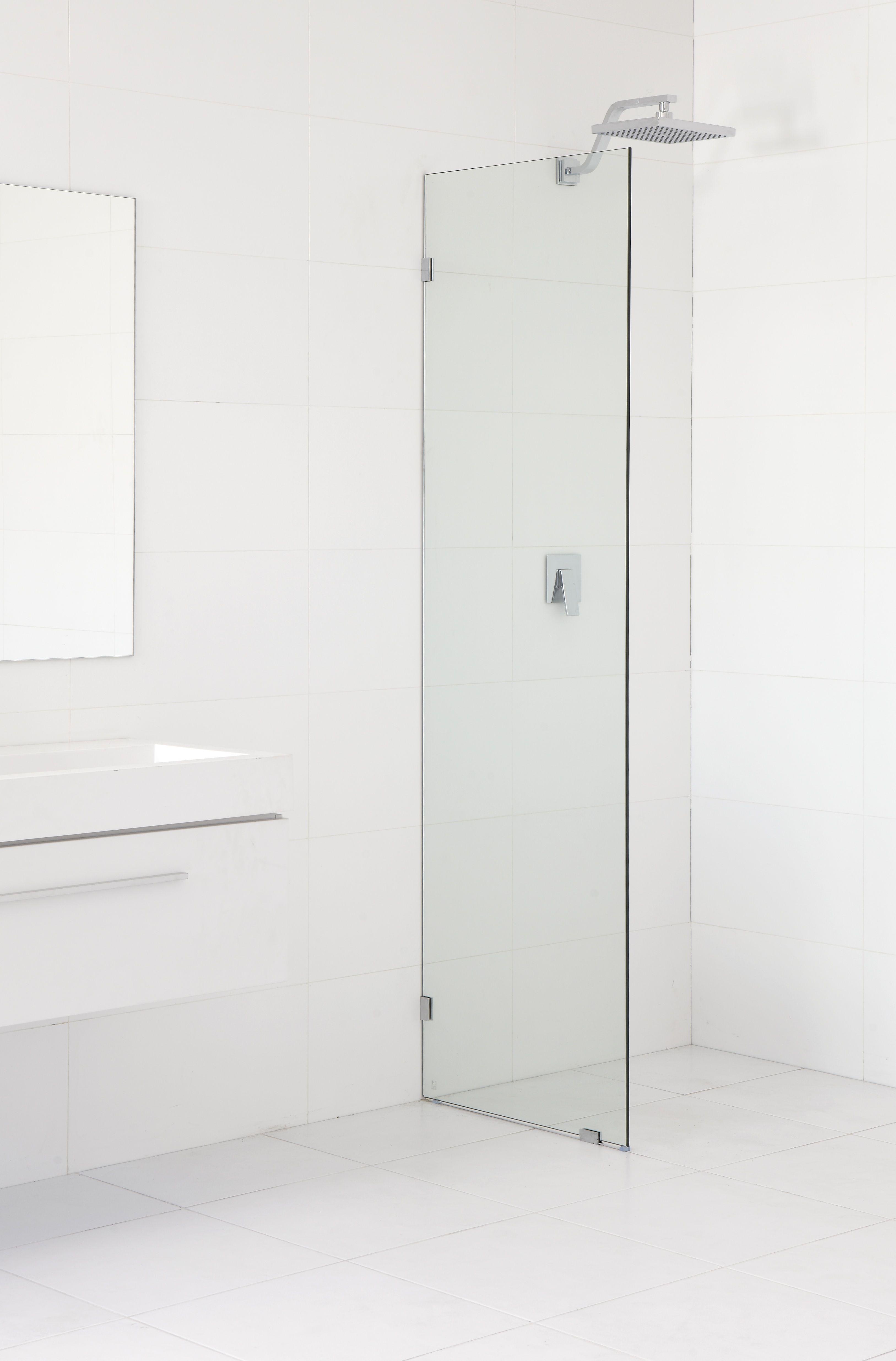 Highgrove 10 X 2000 X 600mm Frameless Glass Shower Panel Kit Bunnings Warehouse Glass Shower Panels Glass Shower Wall Glass Shower