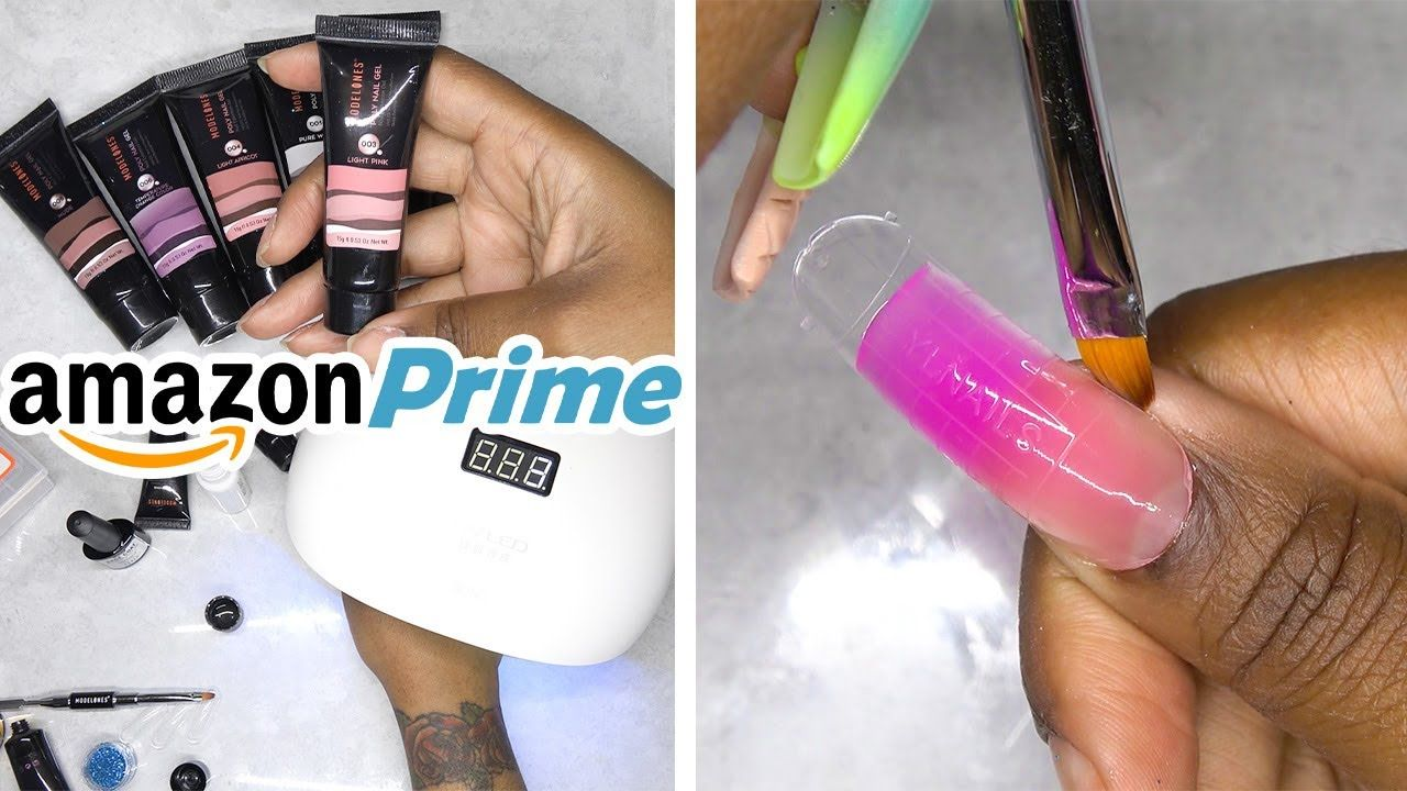 Diy Testing A Polygel Nail Kit From Amazon Prime Modelones
