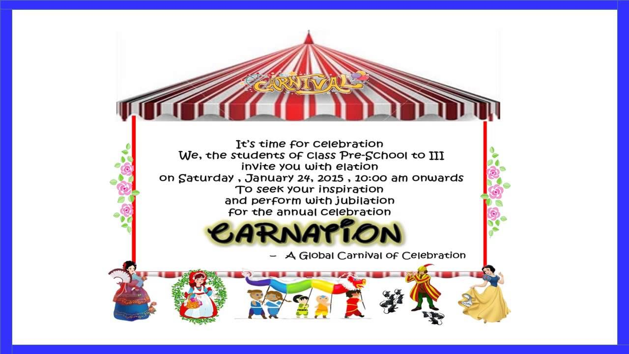 Image Result For Samples Of Invitation Cards For Annual Day
