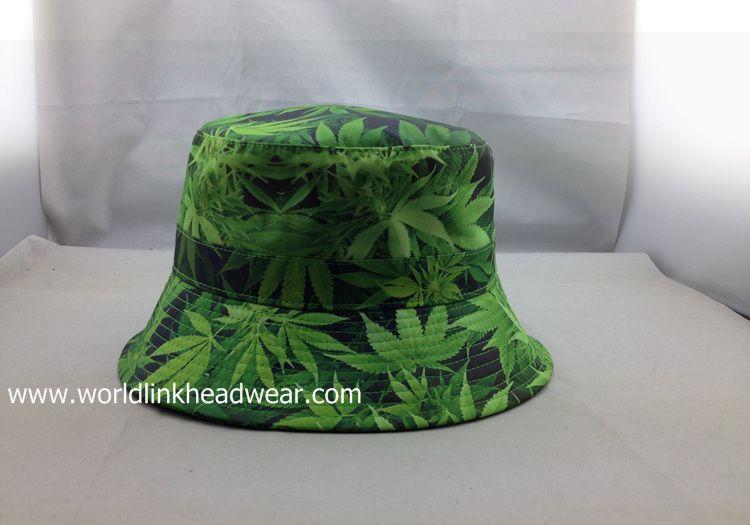 Green Floral Wholesale Print Flower Custom Bucket Hat cheap sublimation  fishing hats factory e423250669e
