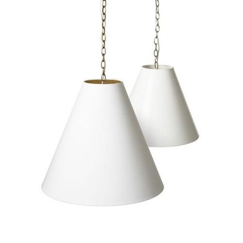 Pendant kit with extra deep cone shade barbara cosgrove lamps